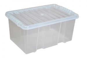 7 Litre Plastic Storage Boxes with Clear Lids
